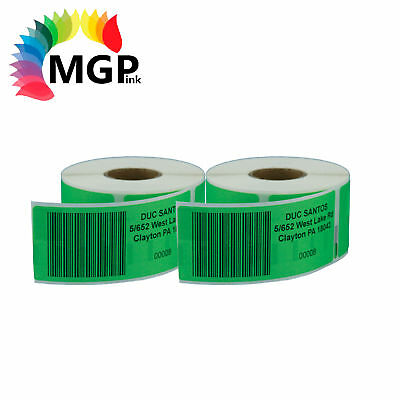 2 Compatible for Dymo/Seiko 99012 Green Label 36mm x 89mm Labelwriter450 Turbo