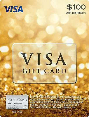 $100 Visa Card No Fees Activated Ready to Use FAST SHIPPING!!