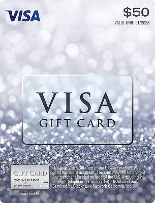 $50 Visa Money/Cash Card Activated And Ready To Use