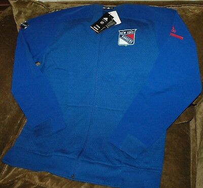 f1e93bcc3e8 New York Rangers bomber jacket! Adidas Men s Large NEW with TAGS! NHL 2018  blue