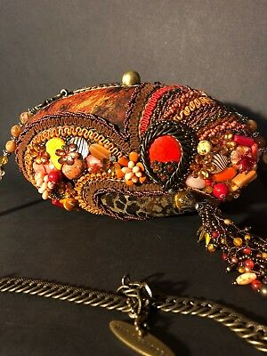Mary Frances Retired Beaded Handbag Excellent Pre Owned Condition