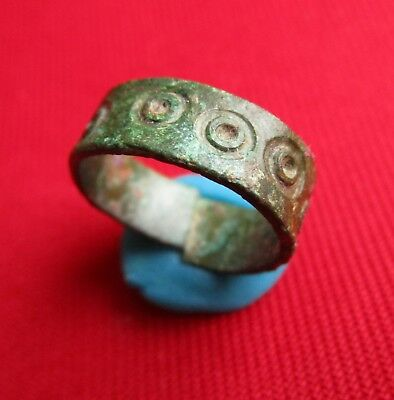 Very Rare - Bronze age Ancient Celtic wedding ring . engraved .