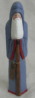 Cheryl Schley Santa Staff Blue Hand Carved Painted 2011