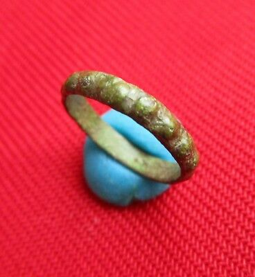Rare shape , Ancient Celtic bronze wedding ring . circa 300 BC.