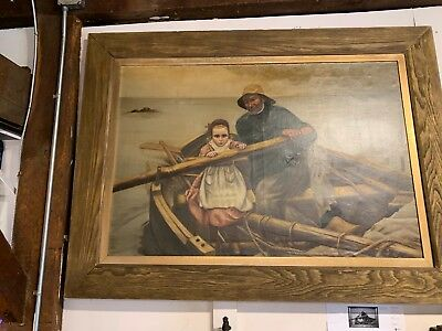 Large Period Oil Painting After Emil Renouf French School Early 20Th Century