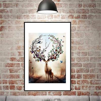 Nordic Elk Decor Modern Abstract Oil Painting On Canvas Unframed Huge Wall Art J
