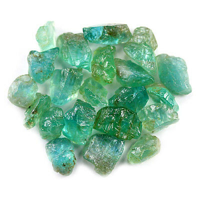 43.87 Ct.20 Pcs. Neon Blue Green Apatite Gemstone Rough Unheated Free Shipping!!