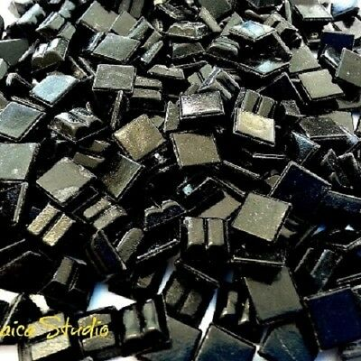 Vitreous Tiles  x 200pc- 10x10mm Black