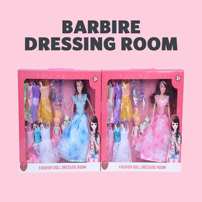 Fashion Barbie Dolls princess Dressing Barbie dressing extra clothes Girl's gift