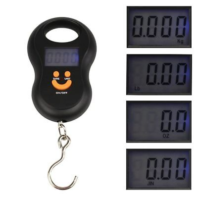 50kg/5g Electronic Portable Pocket LCD Digital Hanging Luggage Weight Hook Scale