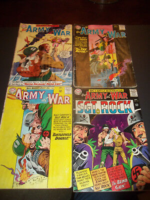 Lot of 4 Our Army at War (1952) #132 134 135  159 Reader lot