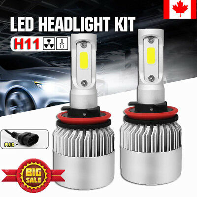 2X H11 H8 H9 1800W 280000LM LED Headlight Kit Hi/Low Beam Bulbs White 6500K CA