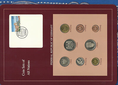 Coin sets of all nations Germany 1986 - 1988 UNC  2,5 Mark 1988 5 Pfennig 1988