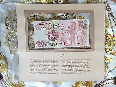 Most Treasured Banknotes Ghana 1978 10 Cedis P16f UNC Prefix X/1