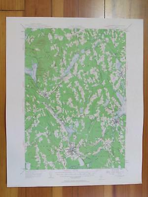 Pittsfield Maine 1963 Original Vintage USGS Topo Map