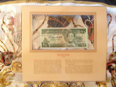 Most Treasured Banknotes Ethiopia 1976 1 Birr P 30a  UNC Prefix BS