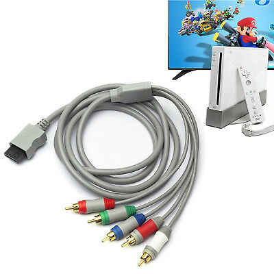 Gold Component HDTV AV Audio Adapter Cable Cord Wire 5RCA For Nintendo Wii 6ft