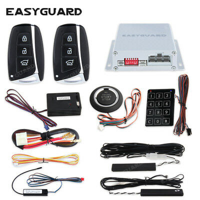 EASYGUARD pke car alarm system remote start keyless entry push to start switch