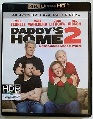 Daddys Home 2 4K Ultra Hd Blu Ray 2 Disc Set Free World Wide Shipping Buy It Now