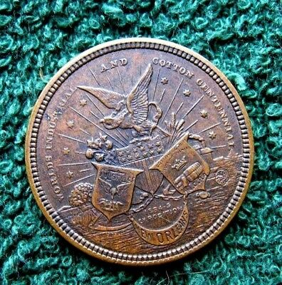 1884-85 New Orleans Worlds Cotton & Industrial Expo...Souvenir Token....EF Cond