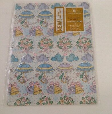 vintage american greetings bridal shower wrapping paper gift wrap wedding crafts