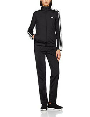 Adidas Women's Track Suit Back to Basics Training 3-Stripes Black Gym New BK4674
