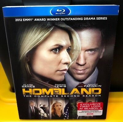 Homeland: The Complete Second Season (Blu-ray Disc 2013 3-Disc Set) Brand New!
