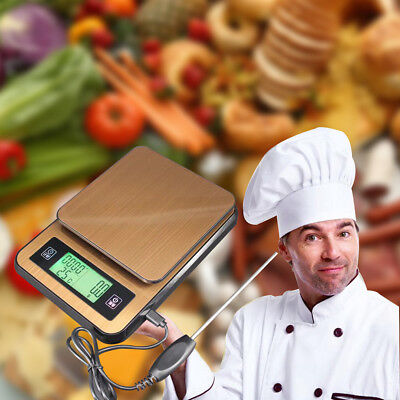 2kg Wooden Digital LCD Electronic Kitchen Household Chef Cooking Weighing Scales