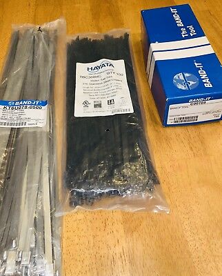 BAND-IT Banding Tool NEW In Box With Bonus Stainless Steel & PVC Coated SS Ties