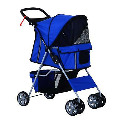 PawHut Pet Stroller/ Carrier with 4 Wheels, Blue
