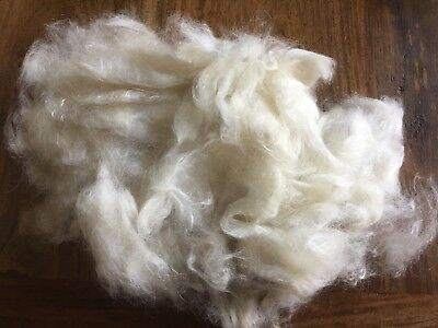 Kid Mohair, Washed And carded. 100gm Packs