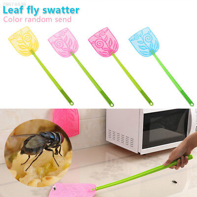 44E4 Leaf Fly Swatter Insect Trap Outdoor Kitchen Pest Control Handheld Flies