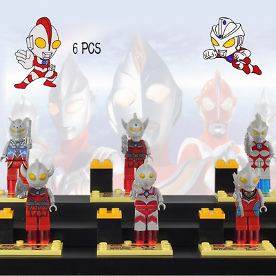 Bandai Ultraman Ultra Hero Series 6pcs Lego Set Children Holiday Gift Fast Ship
