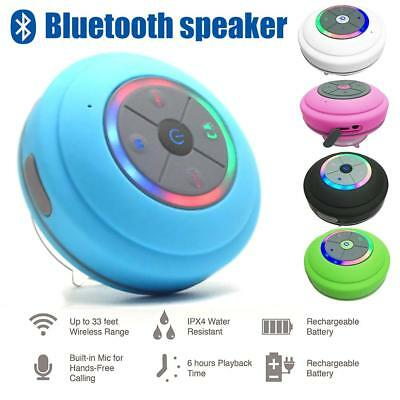 Bluetooth Waterproof Wireless Speaker Suction Shower For iPhone Samsung W/Mic