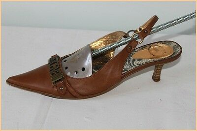 Court shoes JUST CAVALLI All Brown Leather T 36 BE