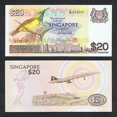1979 Singapore 20 Dollars P-12 Unc> > > >Yellow-Breasted Sunbird Changi Airport