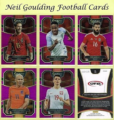 Panini SELECT SOCCER 2017-2018 ☆ FUCHSIA PARALLEL ☆ Terrace Football Cards #/125
