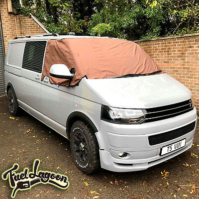 T5 Screen Cover Black Out Blind Window Curtain Wrap VW Camper Van Brown Frost