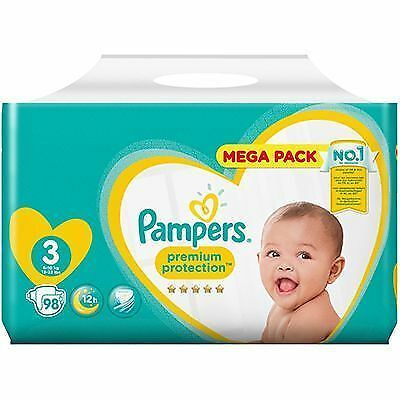 PAMPERS Premium Protection 6-10kg Taille 3 - 98 couches