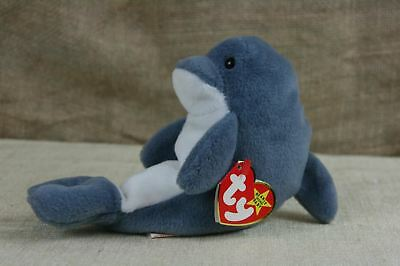 e1642681b08 TY BEANIE BABY Echo The dolphin With Tags Plush Stuffed Animal ...