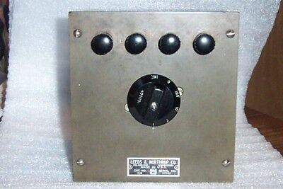 Leeds & Northrup 2116 Fixed 10000 Ohms Decade Resistor Box, Cleaned and TESTED