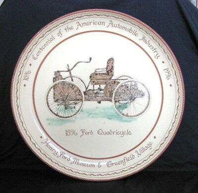 Rare Ford Motor Quadricycle Advertising Plaque from Henry Ford Museum