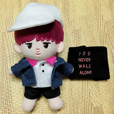 Bangtan 20cm/8''  KPOP BTS Plush RM Doll Toy with clothes Hat Bath Towel Limited