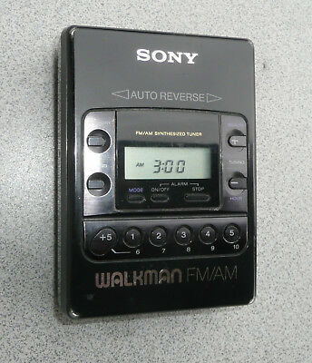 Sony Walkman WM F2081 Kassettenplayer und Radio AM-FM Riemen neu