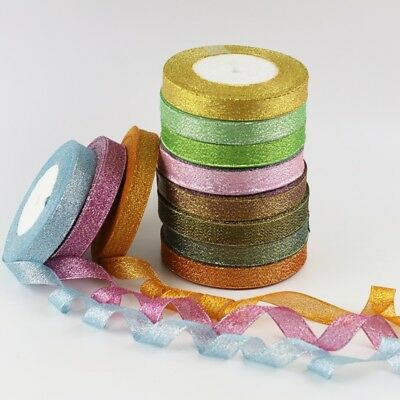 25Yards(4size/13colors)craft Bows Satin Ribbon Wedding Party Craft Satin DIY