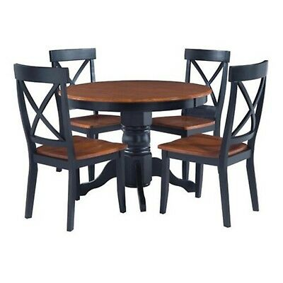 Home Styles Dining Table, Black/Cottage Oak