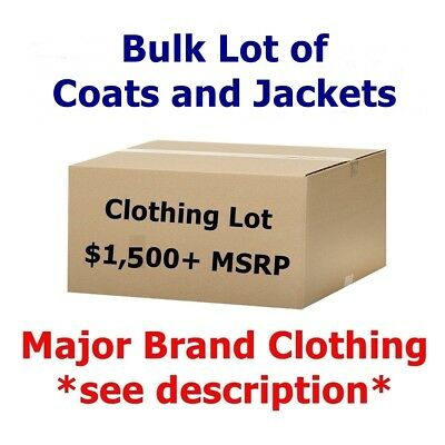 $1,500+ Wholesale Lot of COATS & JACKETS Men's/Women's Clothing - Fall/WINTER