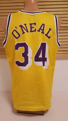 6dec83961 Los Angeles LA Lakers Trikot NBA O´Neal Champion Jersey Shirt Camiseta Shaq  42 S