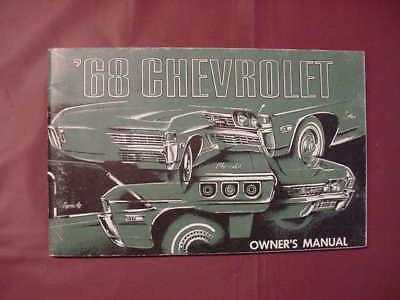 1968 Chevrolet Owner's Manual (Nice original) November 1967 Copyright
