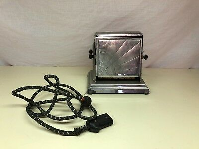 Old Vtg GENERAL ELECTRIC Metal Toaster Decorative Design #119T46 USA